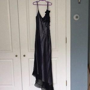 Betsey Johnson lilac dress w black sheer overlay